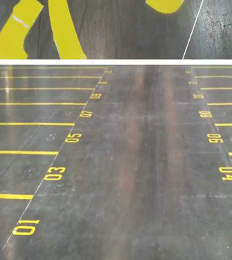 Warehouse Floor Line Painting And Location Numbering
